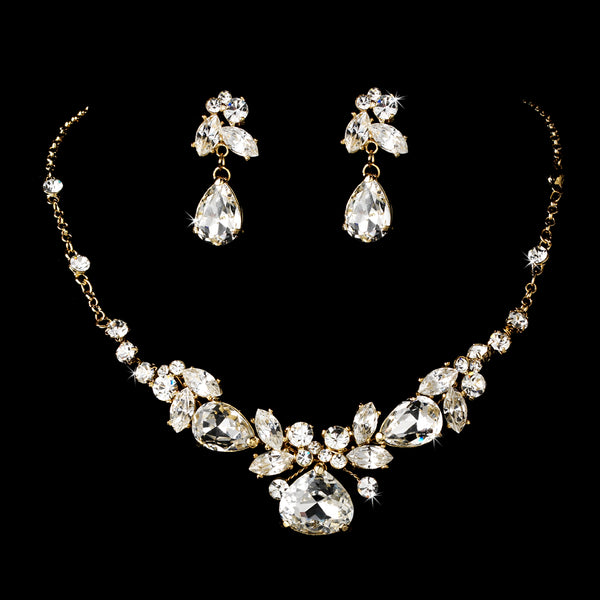 """The Neena"" Swarovski Crystal Jewelry Set - Sweet Heart Details"