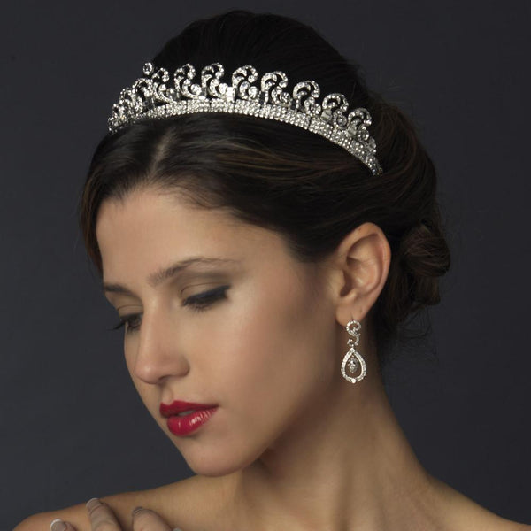"""The Royal Kate Middleton"" Inspired Halo Tiara-Tiaras & Headbands-Wedding Factory-HP-9949-RD-CL-Sweet Heart Details"