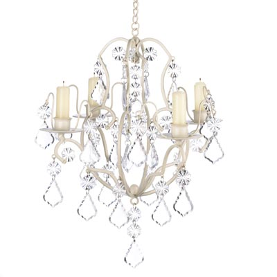 Ivory Baroque Candle Chandelier-Lanterns, Candles-Kohler Home Decor-14947-Sweet Heart Details