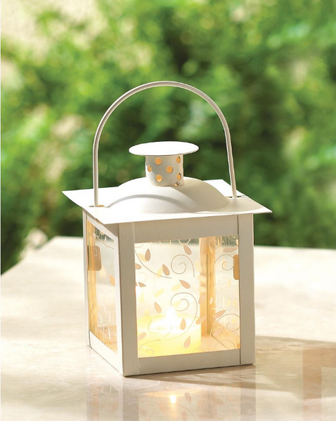 Lightweight White Lanterns - Sweet Heart Details