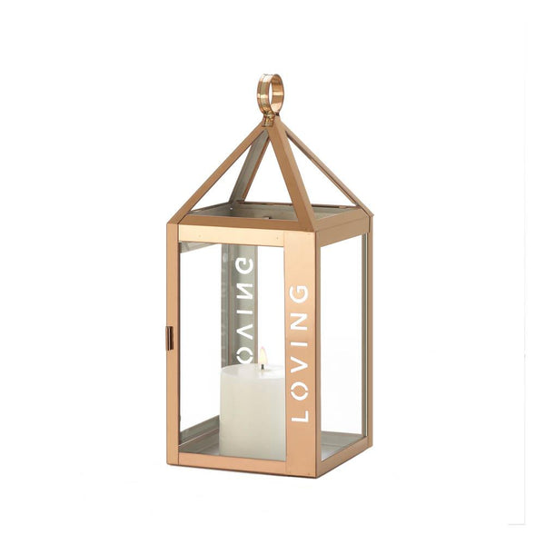 Rose Metal Frame Loving Lanterns - Sweet Heart Details