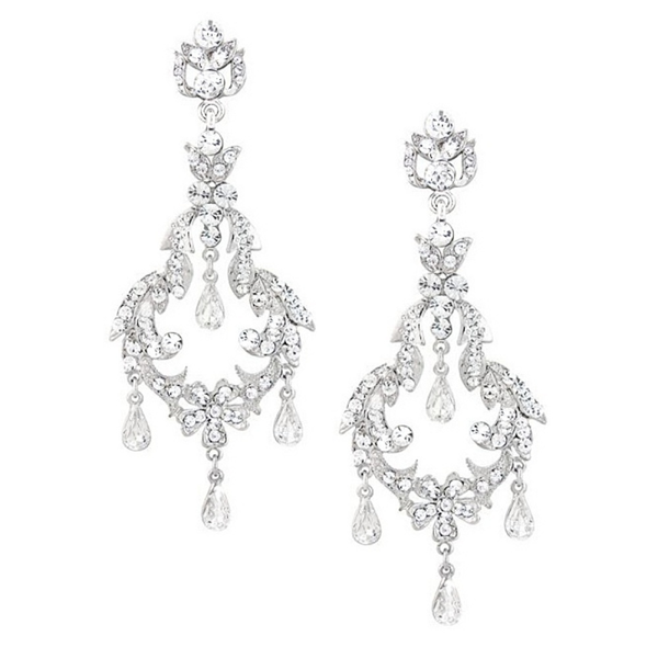 """The Paisley"" Glam Chandelier Earrings - Sweet Heart Details"