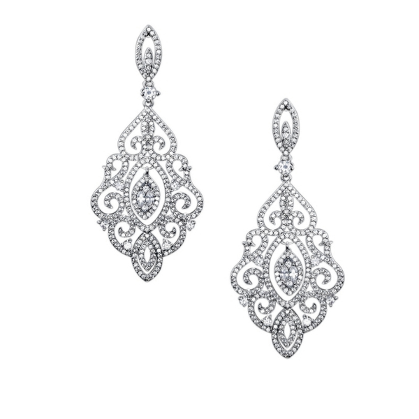 """The Divine Diva"" Chandelier Earrings - Sweet Heart Details"