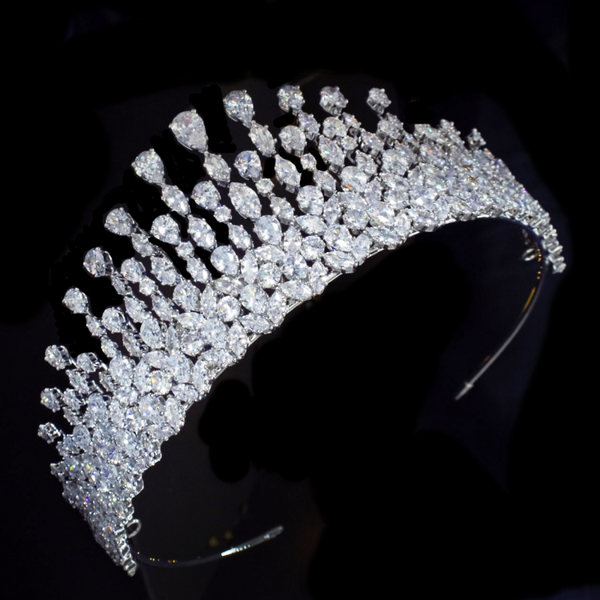 """The Elodie"" Graceful Starlet Tiara-AHB41 7264-Sweet Heart Details"