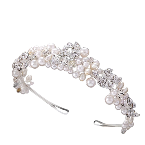 """The Ottilie"" Pearl Sparkle Headband-AHB38 7261-Sweet Heart Details"