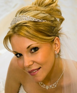 """The Julia"" Swarovski Crystal Headpiece-Tiaras & Headbands-Wedding Factory-HP-7090-S-CL-Sweet Heart Details"