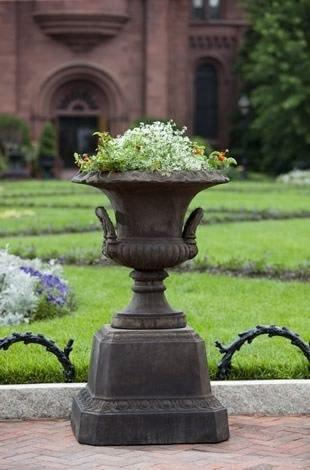 Image of Campania International Smithsonian L'Enfant Urn with Pedestal The Garden Gates