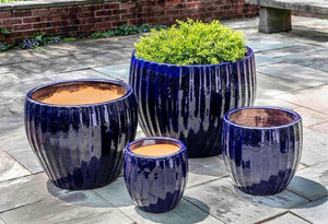 Campania International Andromeda Planter Set of 4 in Sapphire