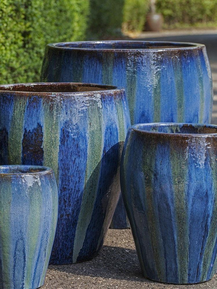 Chantal Planter in Maui Blue -  Set of 4 - Life onPlum - 1