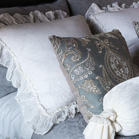 Image of Bella Notte Linens Whisper Linen Pillow Shams Kendall and Everett