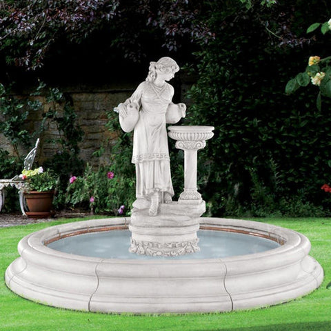 Image of Henri Studio Angella in Toscana Pool Fountain Kendall and Everett