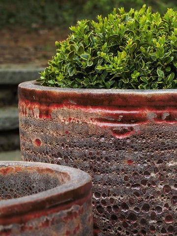 Image of Campania International Aspara Planter Set of Four in Angkor Red The Garden Gates