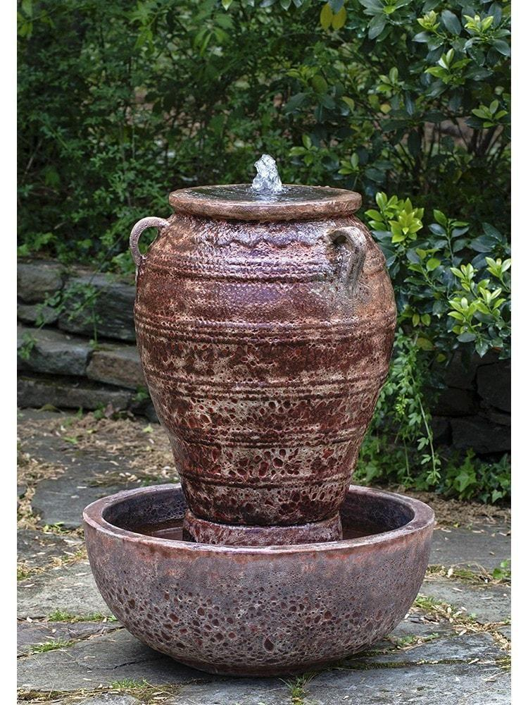 Small Corinth Fountain in Angkor Red - Life onPlum