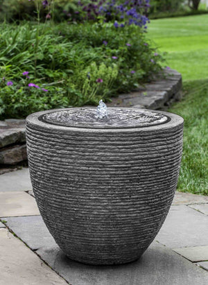 Campania International Stone Ledge Fountain Kendall and Everett