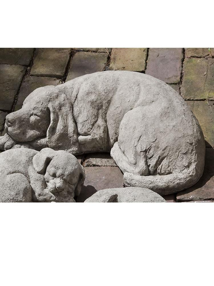 Campania International Reclining Large Dog Statue The Garden Gates