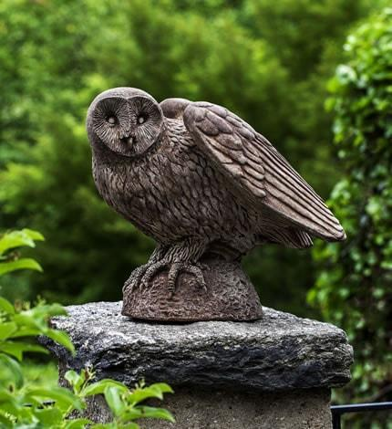Image of Campania International Barney Owl Garden Statue Kendall and Everett