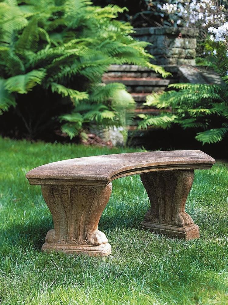 Campania International Curved West Chester Bench