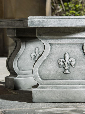 Image of Campania International Fleur De Lys Curved Bench Kendall and Everett