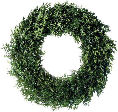 Fresh Boxwood Round Wreath