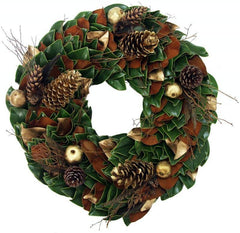 Fresh Golden Woodlands Wreath