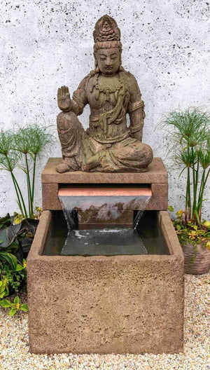 Campania International Antique Quan Yin Buddha Fountain