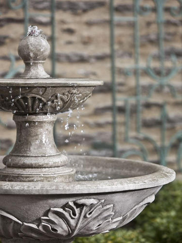 Campania International Acanthus Two Tiered Fountain Kendall and Everett