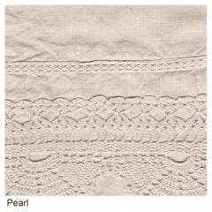 Bella Notte Linens Linen with Crochet Lace Flat Sheets The Garden Gates