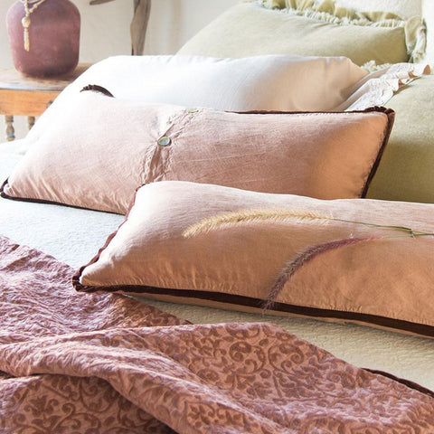 Image of Bella Notte Linens Paloma Lumbar Pillow