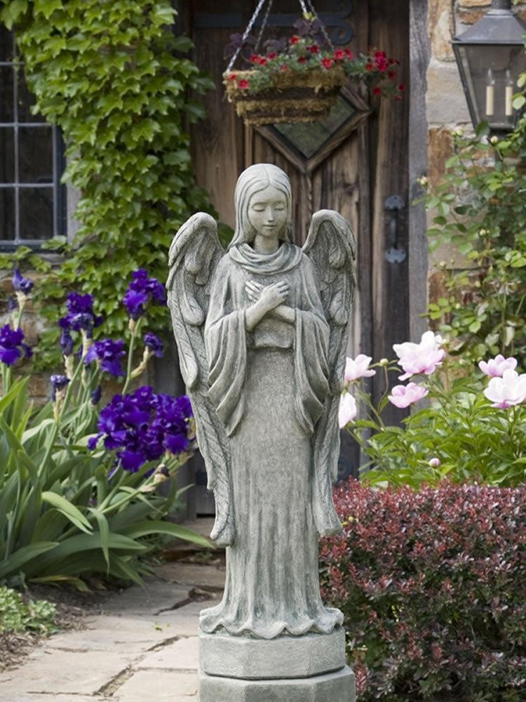 Campania International Autumn Angel Garden Statue Kendall and Everett