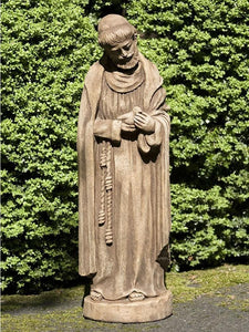 Campania International St Francis with Baby Bird Garden Statue Kendall and Everett
