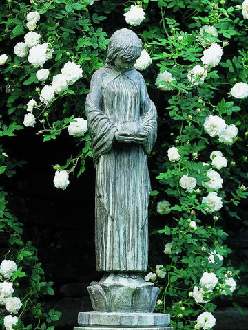 Image of Campania International Wood Nymph Garden Statue Kendall and Everett