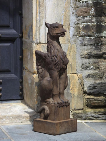 Image of Campania International Gryphon Garden Statue Kendall and Everett