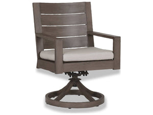 Sunset West Quick Ship Laguna Aluminum Swivel Dining Chair The Garden Gates