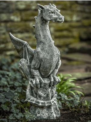 Campania International Abraxas Dragon Garden Statue Kendall and Everett