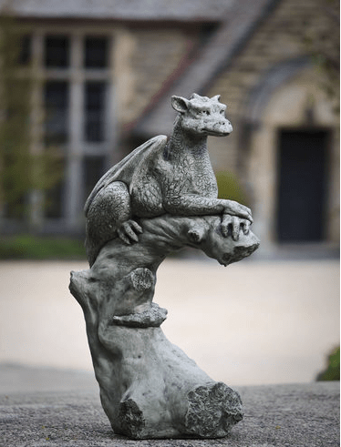 Campania International Yolande Perched Dragon Statue The Garden Gates