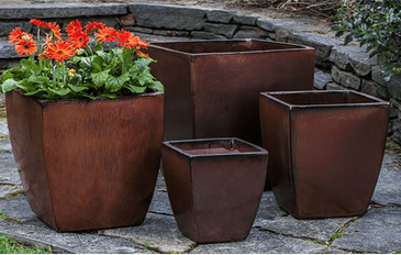 Campania International Blake Planter Set of 4 in Maple Red The Garden Gates