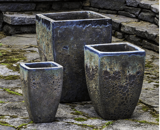 Campania International Banteay Planter Set of Angkor Green Mist