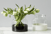 Image of White Colorblock Flower Vase