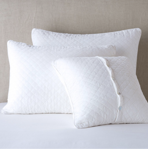 Bella Notte Linens Silk Velvet Quilted Pillow Shams