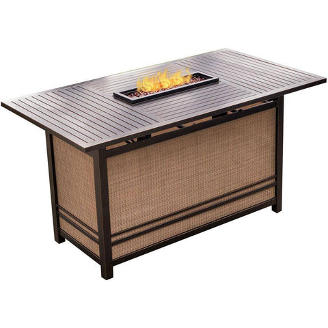 Hanover Traditions High Fire Pit Bar with Lava Rocks