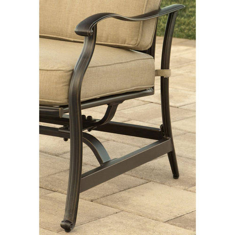 Hanover Traditions 5-Piece Outdoor Rocker Set and Fire Pit