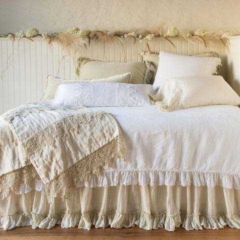 Image of Bella Notte Linens Whisper Linen Coverlet