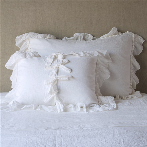 Image of Bella Notte Linens Whisper Linen Pillow Shams