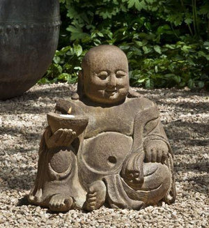 Campania International Abaca Buddha Garden Statue Kendall and Everett