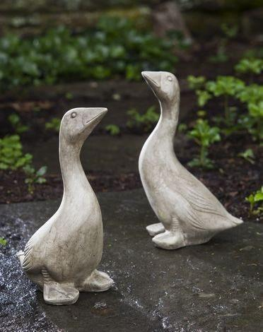 Image of Campania International Kate's Goose Statue Kendall and Everett