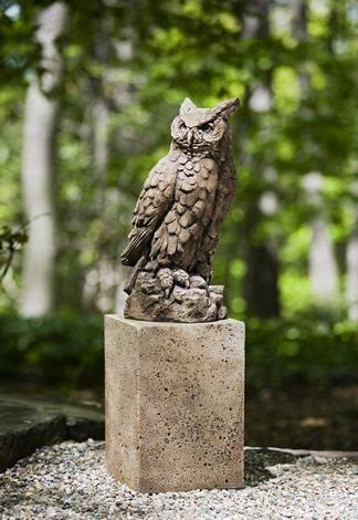 Campania International Large Horned Owl Statue Kendall and Everett