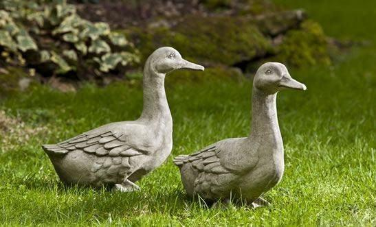 Campania International Quackers Goose Garden Statue Kendall and Everett