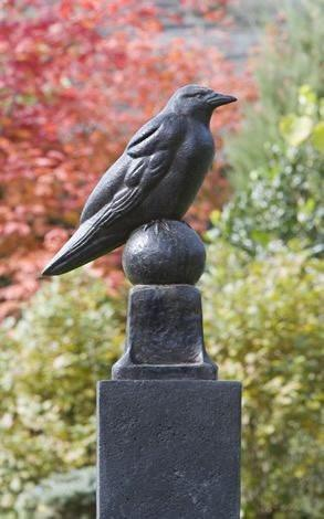 Image of Campania International Raven Statue Kendall and Everett