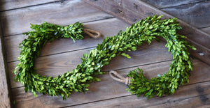 Mills Floral Preserved Boxwood Country Manor 6-foot Garland
