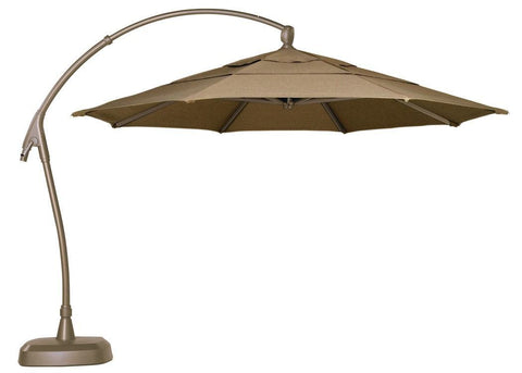 Treasure Garden 11ft Curved Cantilever Umbrella Kendall and Everett